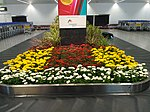 Floral display at baggage collection of Bangalore Airport 01.jpg