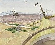 Flying Above Kirkuk, Kurdistan, 1919 Art.IWMART4637