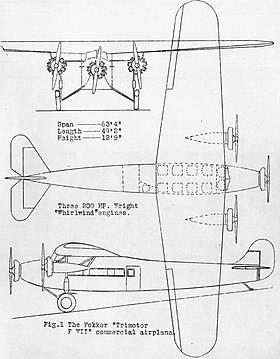 Image illustrative de l'article Fokker F.VII