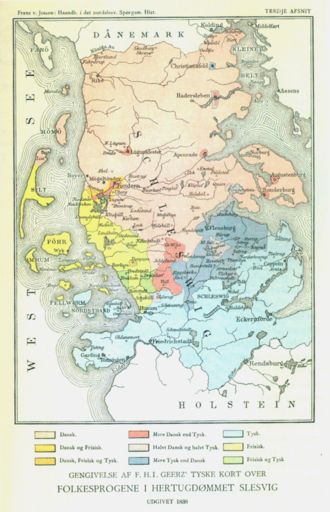Duchy of Schleswig - Language shift in the 19th century in Southern Schleswig