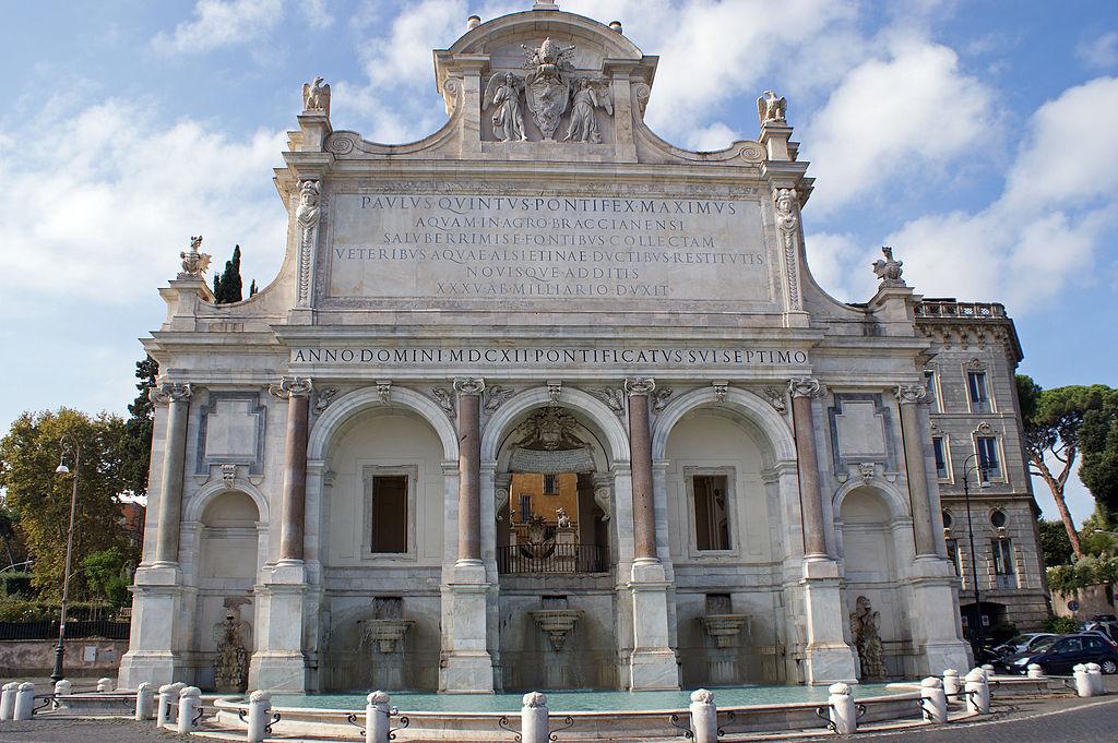 Fontana dell Acqua Paola sur la colline du Janicule à Rome. Photo de Randi Hausken