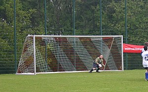 a soccer goal, shot on the German »Chambers Le...
