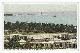 Christopher Levett - Fort Levett and Ram Island Ledge, Cushing Island, Maine, 1909