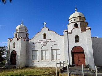Fort Yuma Indian Reservation - Fort Yuma United Methodist Indian Church, located on the reservation