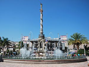 San Juan de los Lagos - Fountain in the main square