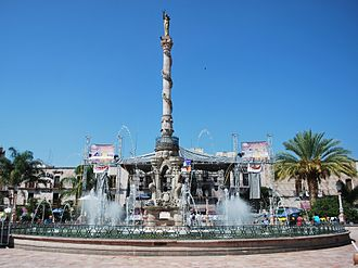 San Juan de los Lagos - Fountain in the main square