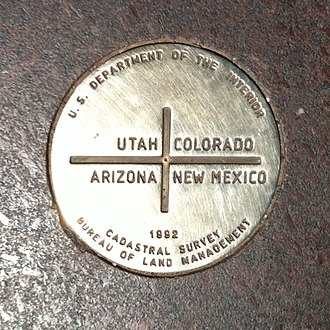 Four Corners Monument - Image: Four Corners Monument Marker 2012