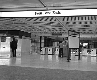 Four Lane Ends Interchange Tyne and Wear Metro station in North Tyneside