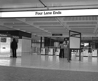 Four Lane Ends Interchange - Image: Four Lane Ends metro station geograph.org.uk 580193