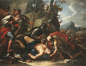 Josiah - Death of king Josiah as illustrated by Francesco Conti
