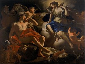 Francesco Solimena - Diana and Endymion