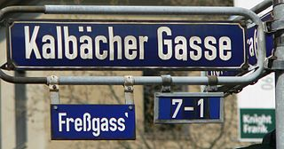 Freßgass pedestrian zone