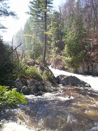 Saranac River - Image: Franklin Falls New York