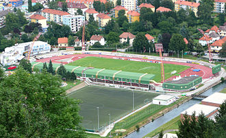 Austrian Football Second League - Kapfenberger SV's ground, the Franz Fekete Stadium (formerly Alpenstadion)