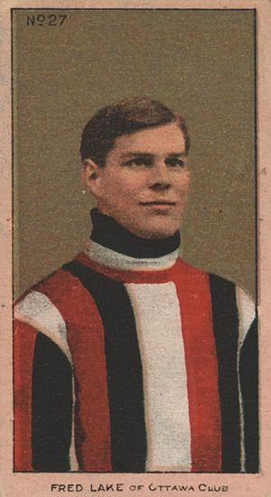 Fred Lake (ice hockey) - Fred Lake with the Ottawa Hockey Club on a 1911 Imperial Tobacco hockey card.
