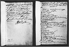 Eigenhändige Instruktion Friedrich Wilhelms von 1722 für das Generaldirektorium. Staatsarchiv Merseburg (Quelle: Wikimedia)