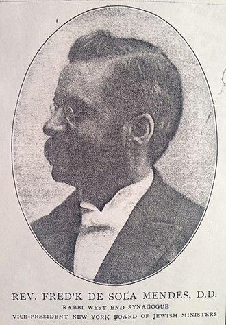Frederick de Sola Mendes - Image: Frederick de Sola Mendes