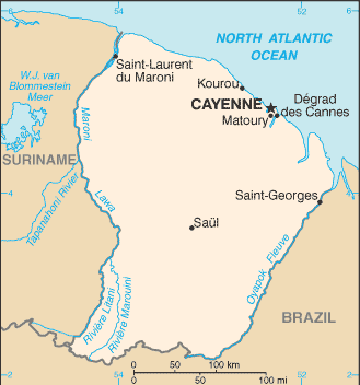 French Guiana-CIA WFB Map