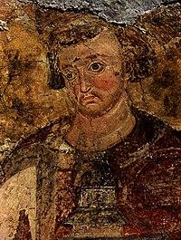 Fresco of Stefan Vladislav, Mileševa, edited.jpg