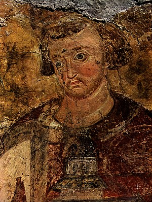 Stefan Vladislav - ktitor portrait in the Mileševa monastery (1235)