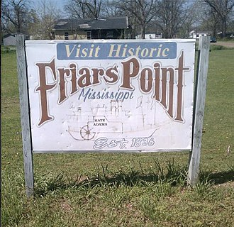 Friars Point, Mississippi - Image: Friars Point Sign