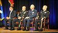 From left, Secretary of Defense Leon E. Panetta; Chairman of the Joint Chiefs of Staff Army Gen. Martin E. Dempsey; Air Force Gen. Craig R. McKinley; and Army Gen. Frank J. Grass listen to a speaker during 120907-Z-DZ751-284.jpg