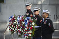 From left, U.S. Marine Corps Cpl. Gerrett Ogle, Lance Cpl. Stephen Carrera and U.S. Navy Petty Officer 2nd Class Armando Tejeda, all with the 8th Marine Regiment, 2nd Marine Division serve as wreath bearers 131023-M-PO905-143.jpg
