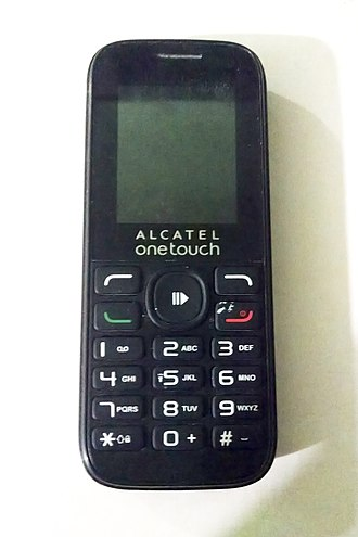 Alcatel Mobile - Image: Front view Alcatel OT 1050A