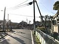 Fukuoka Prefectural Road No.581 near torii of Enoki Shrine.jpg