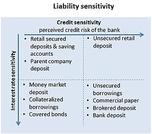 Asset and liability management - Image: Funding requirement liability sensitivity table