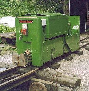 Greenwood & Batley - Greenbat battery-electric locomotive 6061 (built 1961) at Steeple Grange Light Railway