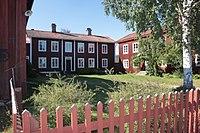 Holzbauernhäuser in der Provinz Hälsingland