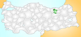 Gümüşhane Turkey Provinces locator.jpg