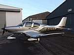 G-IZZT Cirrus SR22T Carbo (Private Owner ) (46352476864).jpg