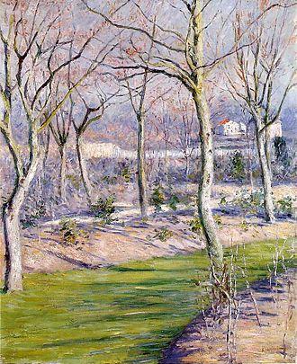 1894 in art - Image: G. Caillebotte Le jardin du Petit Gennevilliers en hiver