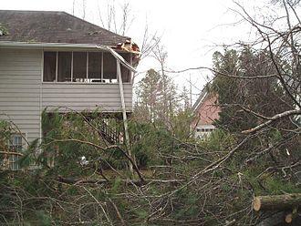 Tornado outbreak of January 2, 2006 - Tornado damage in Henry County.