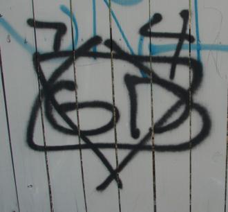 Folk Nation - Folk Nation Gangster Disciples graffiti