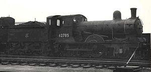 Wymondham to Wells Branch - Image: GER 2 4 0 62785 at Stratford 1959