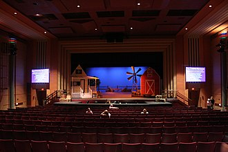 Grand Forks Central High School - Image: GFC Auditorium Oklahoma 2008