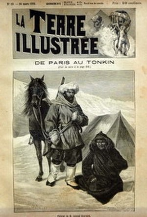 Gabriel Bonvalot - « De Paris au Tonkin. »  Cover of La Terre illustrée with Bonvalot,  March 14, 1891.