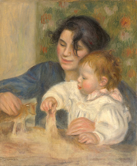 The young Renoir with Gabrielle Renard in a painting by his father Pierre-Auguste Renoir. Gabrielle et Jean, by Pierre-Auguste Renoir, from C2RMF cropped.jpg