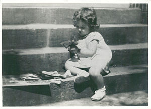 Gail Godwin - Gail Godwin at three years of age