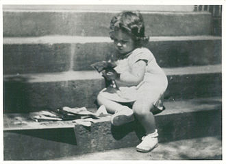 Gail Godwin - Gail Godwin at three years of age