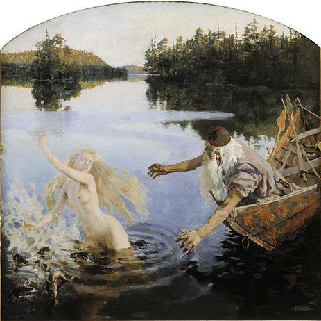 Aino Myth, 1891, second panel of triptych, oil on canvas