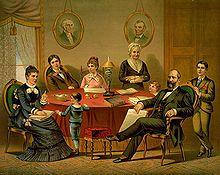 Garfield family, litograph by E.P. & L. Restein