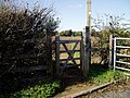 Gate leading to public footpath leading from Osterley Lane to St. Mary's Ave. - geograph.org.uk - 1023047.jpg