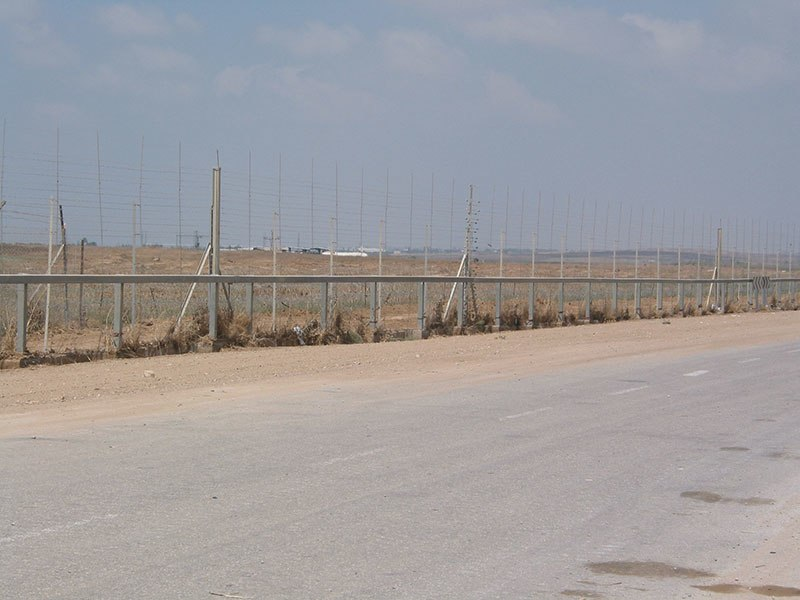 Gaza Strip Barrier near the Karni Crossing