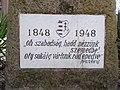 Gedenkfahnenmast, Plaque (1948), Egressy Straße, 2021 Nagyzugló.jpg