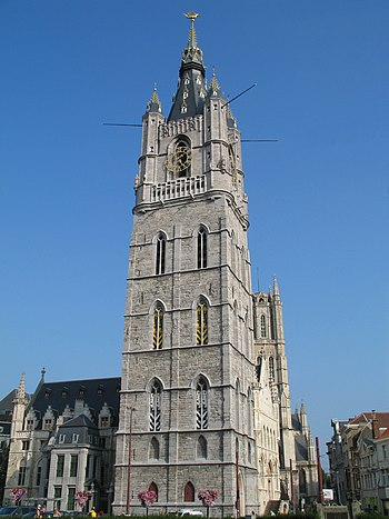 English: The belfry of Ghent (Belgium) Nederla...