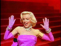 """""""MM"""" w filmie Mężczyźni wolą blondynki (1953)"""